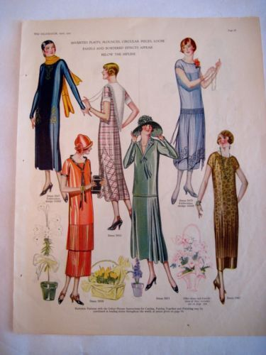 "Stunning 1925 Sewing Pattern Styles from ""The Delineator"" Magazine Butterick 