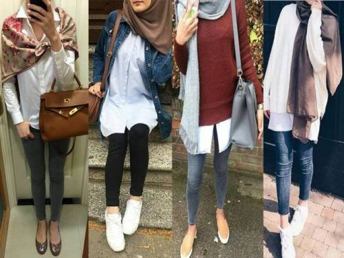 Trendy hijab style for 2018