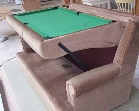 Cool Pool Tables >> Sofa Turns Into A Pool Table From 15 Cool Pool Tables You Will