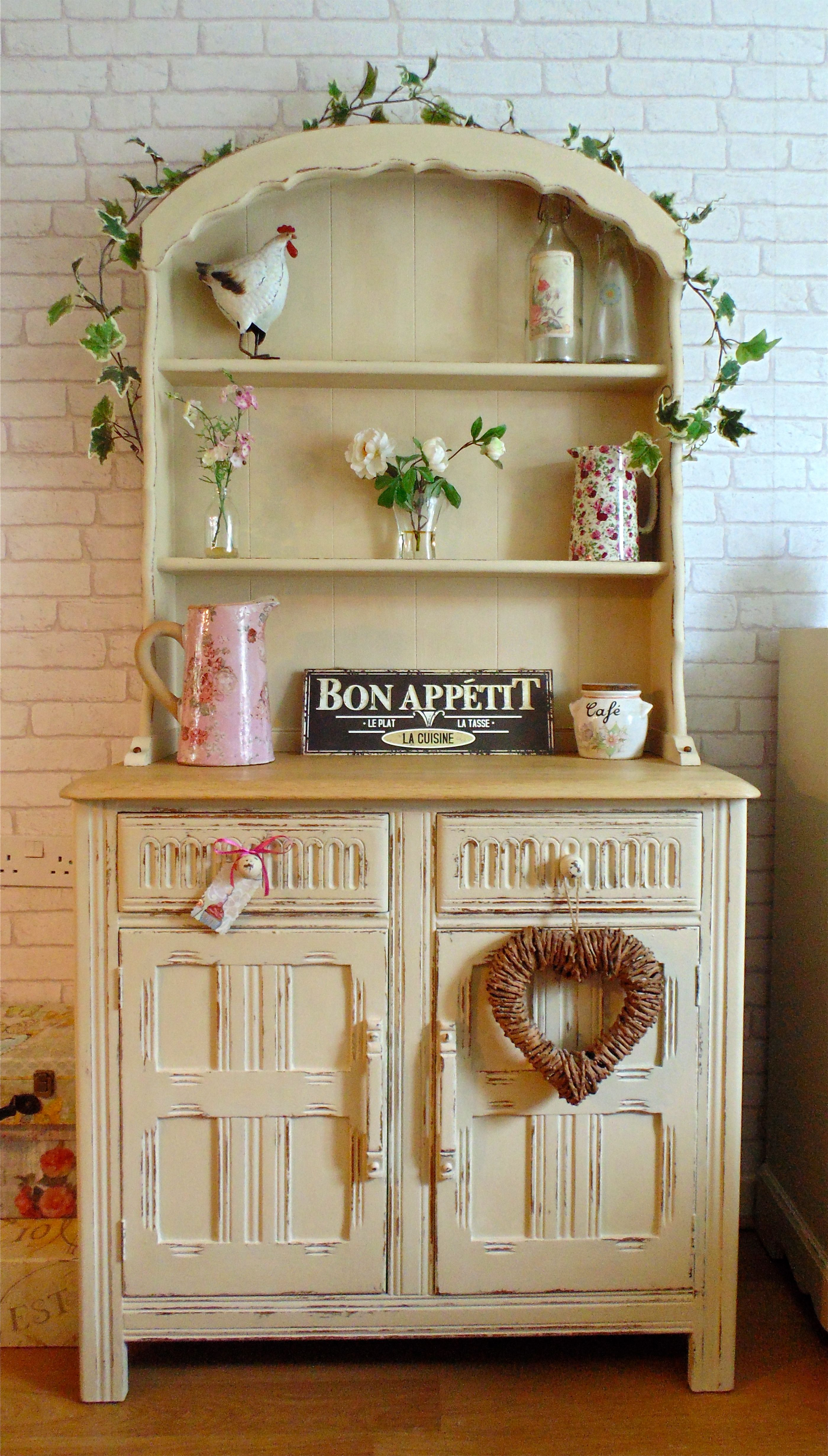 Pretty Dutch Dresser Painted In Annie Sloan Old Ochre  U0026 Distressed With Sanded Solid Oak Top
