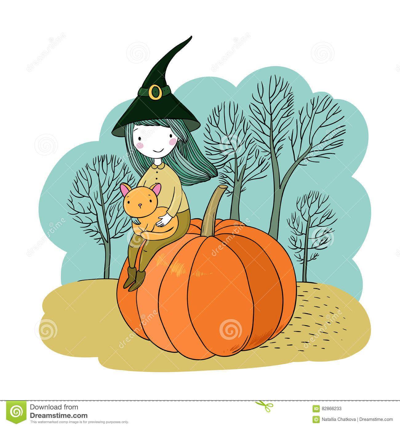 Autumn theme. Halloween. cute vector illustration