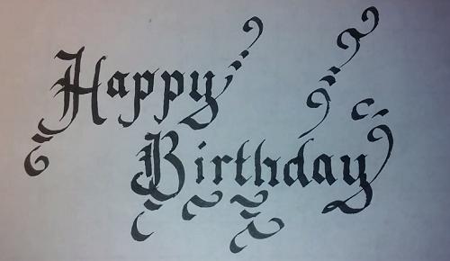 Calligraphy For Beginners Happy Birthday Happy birthday