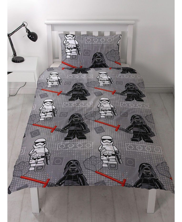 Lego Star Wars Seven Single Duvet Cover And Pillowcase Set Single Duvet Cover Duvet Covers Lego Bedroom