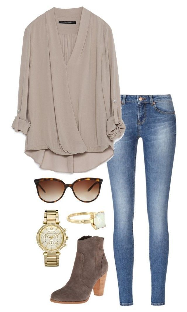 draped blouse by helenhudson1 on Polyvore featuring polyvore, fashion, style, Zara, Joie, Michael Kors,…