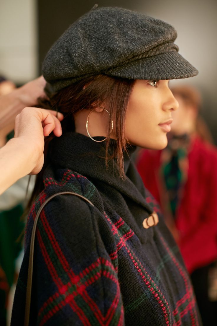 Get an exclusive backstage look at the styles, models and