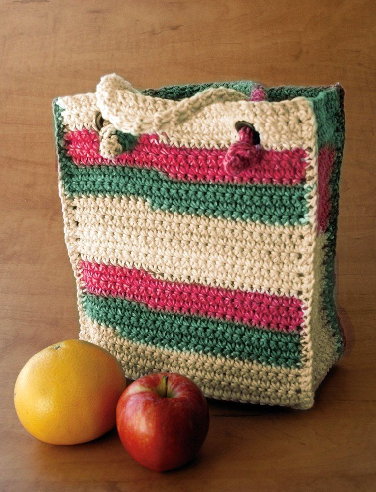 Bag To Crochet In Lily Sugar And Cream Stripes Discover More
