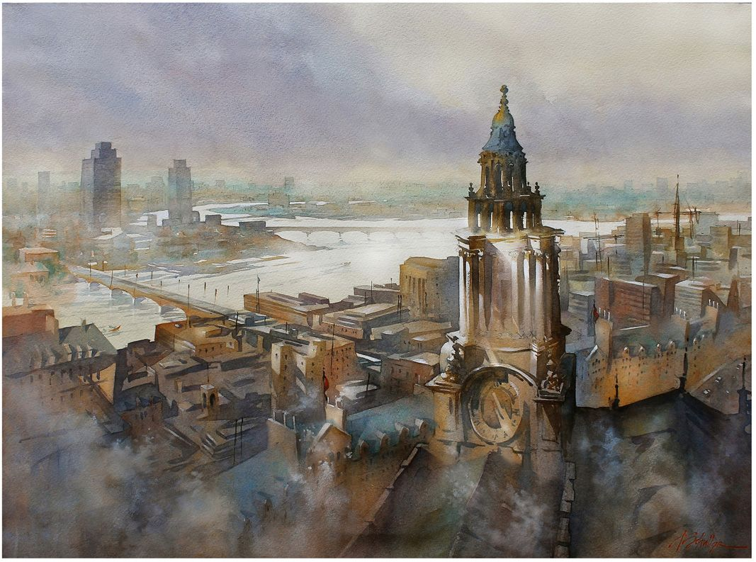 Watercolor artist magazine customer service - My Painting The Thames Is One Of The Winners Of The Annual Watermedia Showcase Competition To Be Published In Watercolor Artist Magazine Feb