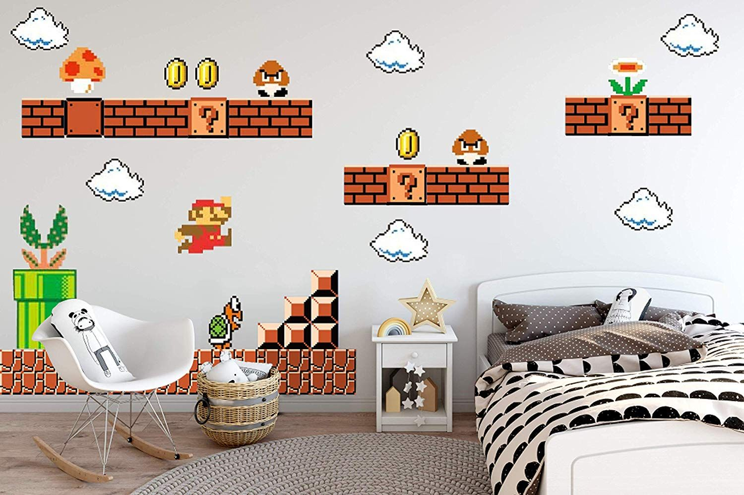 21 Lovely Mario Wall Decal Interior Design Samples (With