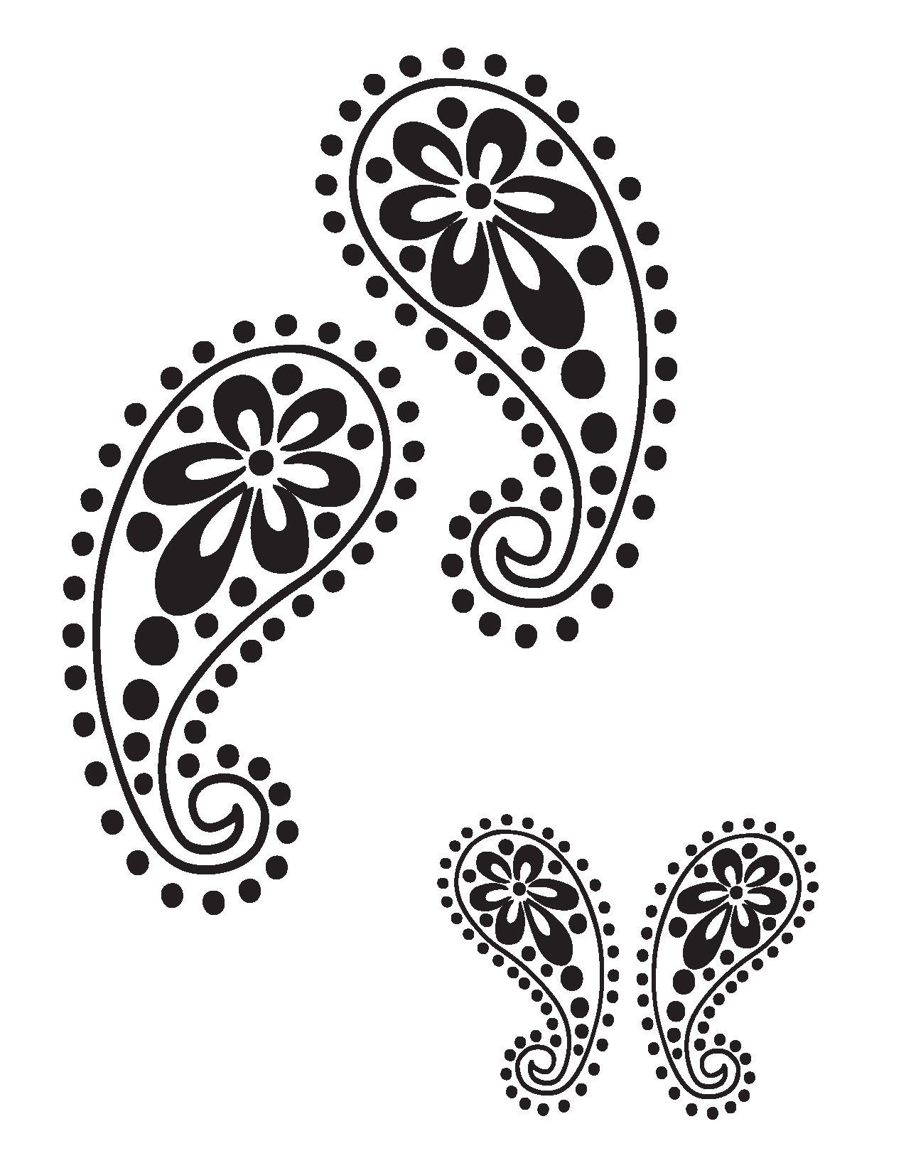 Free Leaf Border Stencil   Stencils Designs Free Printable Downloads ...
