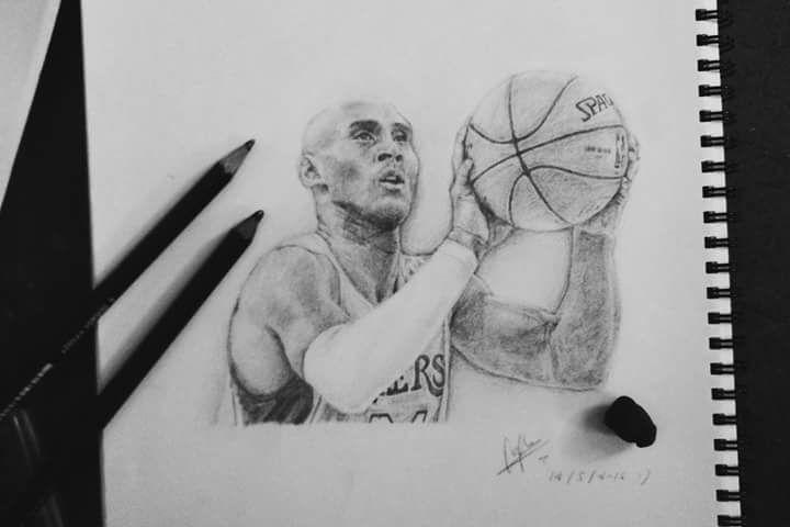 Kobe Bryant Kobebryant Portraitdrawing Art Artideas Pencil