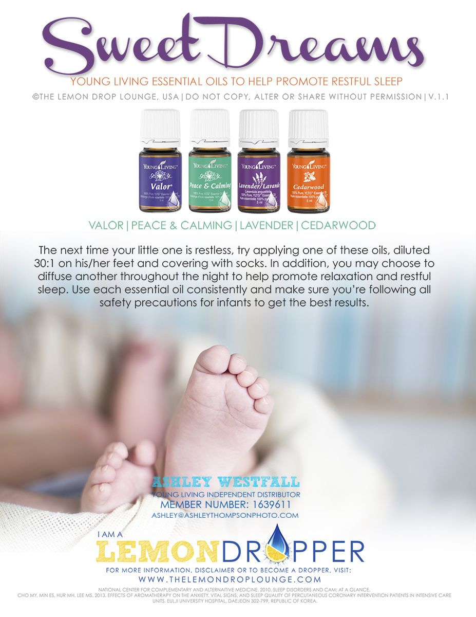 young living essential oils to promote healthy restful sleep