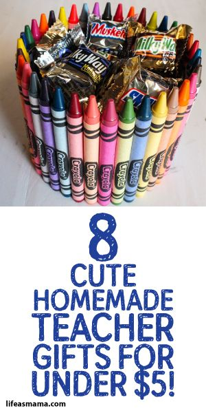 8 Cute Homemade Teacher Gifts For Under $5!  sc 1 st  Pinterest : homemade teacher gift ideas - princetonregatta.org