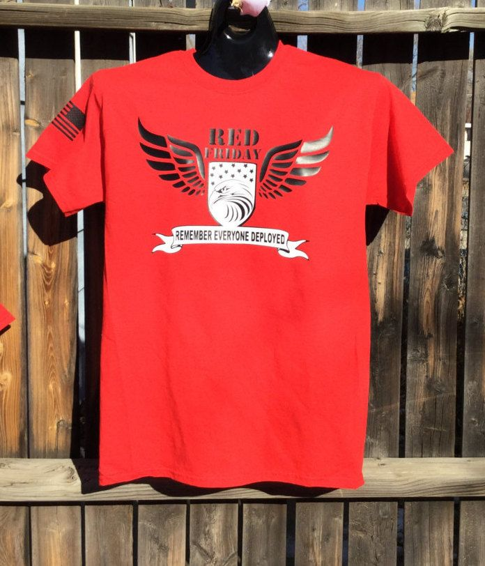 ce1f98adb26e RED Friday Shirt.Eagle and wing shield RED Friday Shirt.Fresh unique RED  Friday shirt.Remember Everyone Deployed T-shirt.