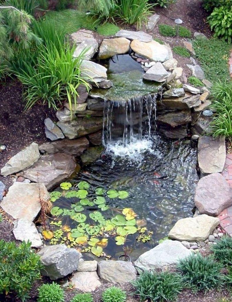 40 Awesome Diy Ponds Ideas With Small Waterfall Rengusuk Com Waterfalls Backyard Fish Pond Gardens Ponds Backyard