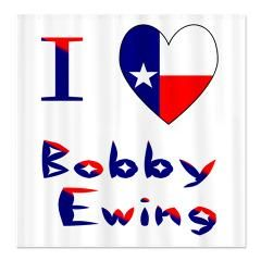 Shower Curtain That Reads I Love Bobby Ewing Replaces The Word Love With A Heart Shaped Texas Flag With Images My Love Shower Curtain Curtains