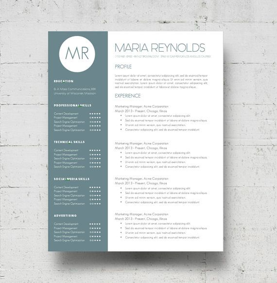 Eye Catching Resume Templates Looking For A Professional Resume Template The Maria Reynolds