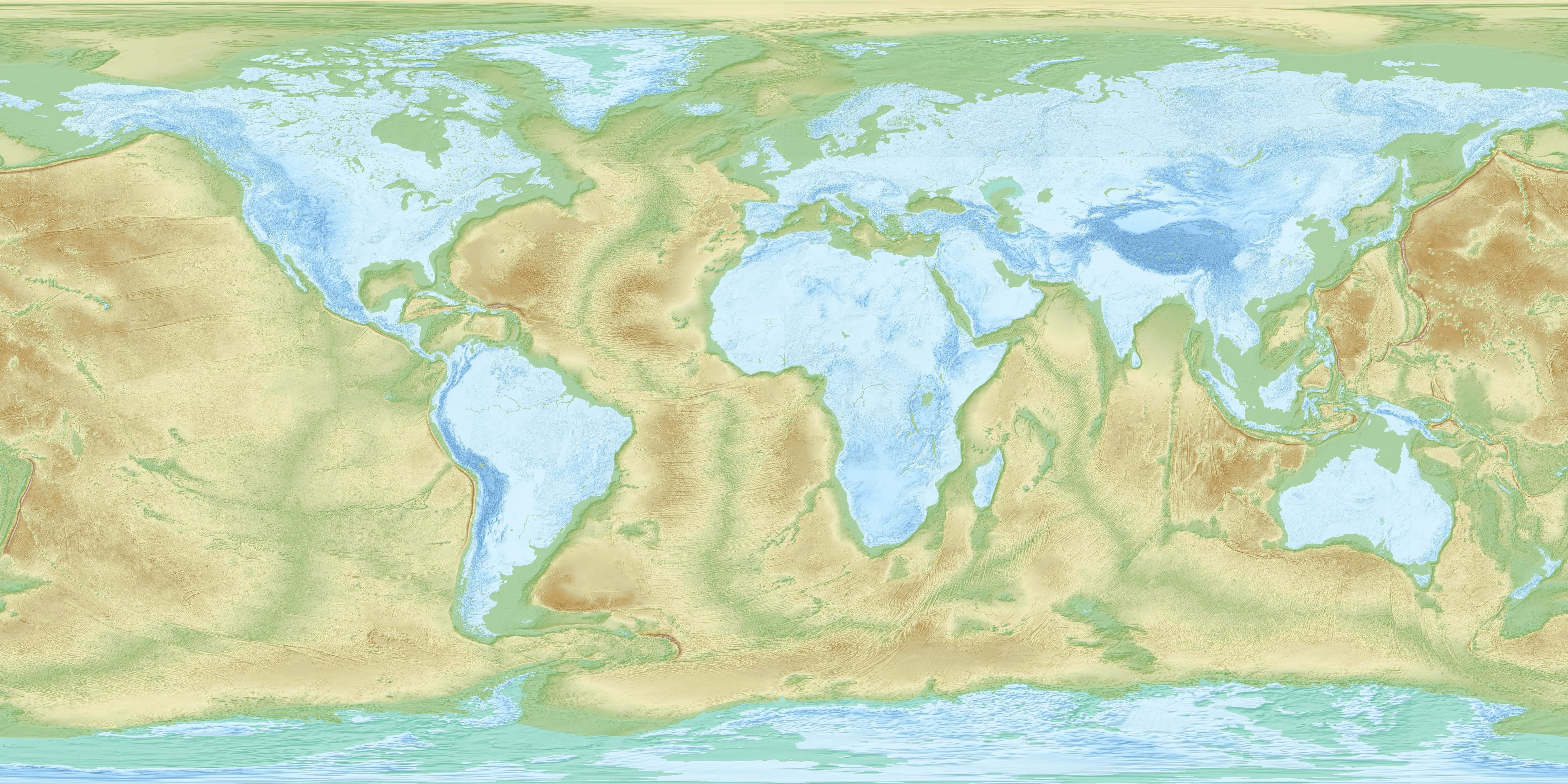 Inverted Relief Map Of The World Informative Studies Maps Map