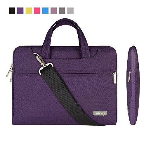 Qishare 11 6 12 Purple Multi Functional Business Briefc Laptop Bag For Women Laptop Shoulder Bag Business Laptop Bag