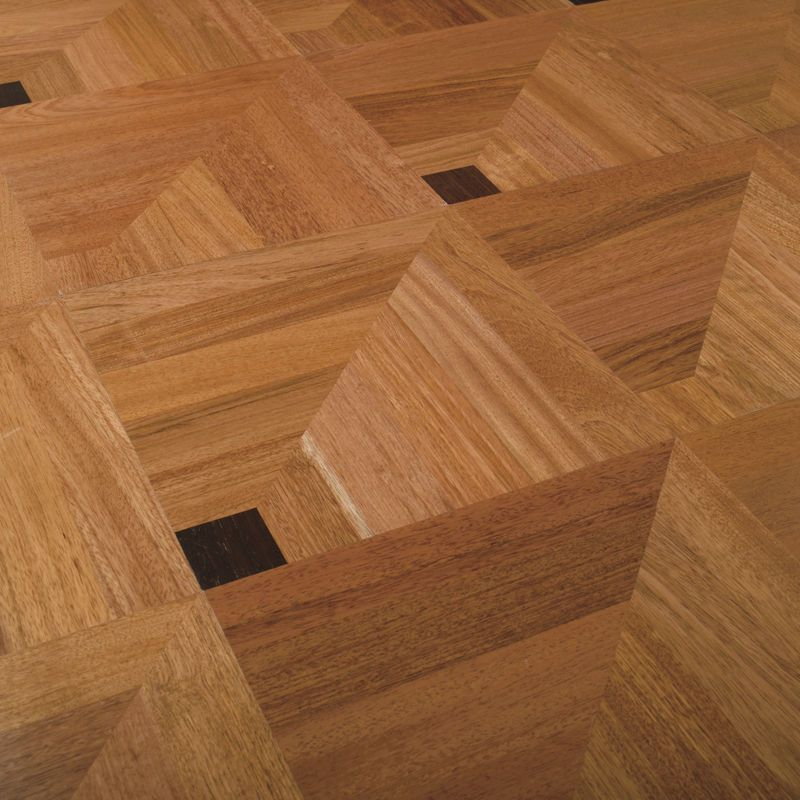 3d illusion solid wood floor tile for Hardwood tile flooring
