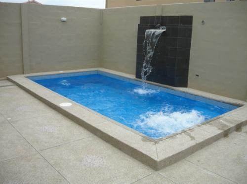Cascada piscina moderna buscar con google caidas de for Piscinas pequenas con cascadas