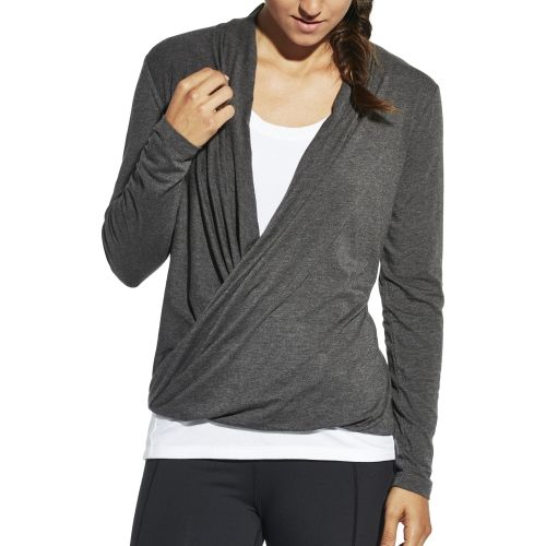 ca7ac9b202728 CALIA by Carrie Underwood Women s Front Wrap Heather Long Sleeve Shirt