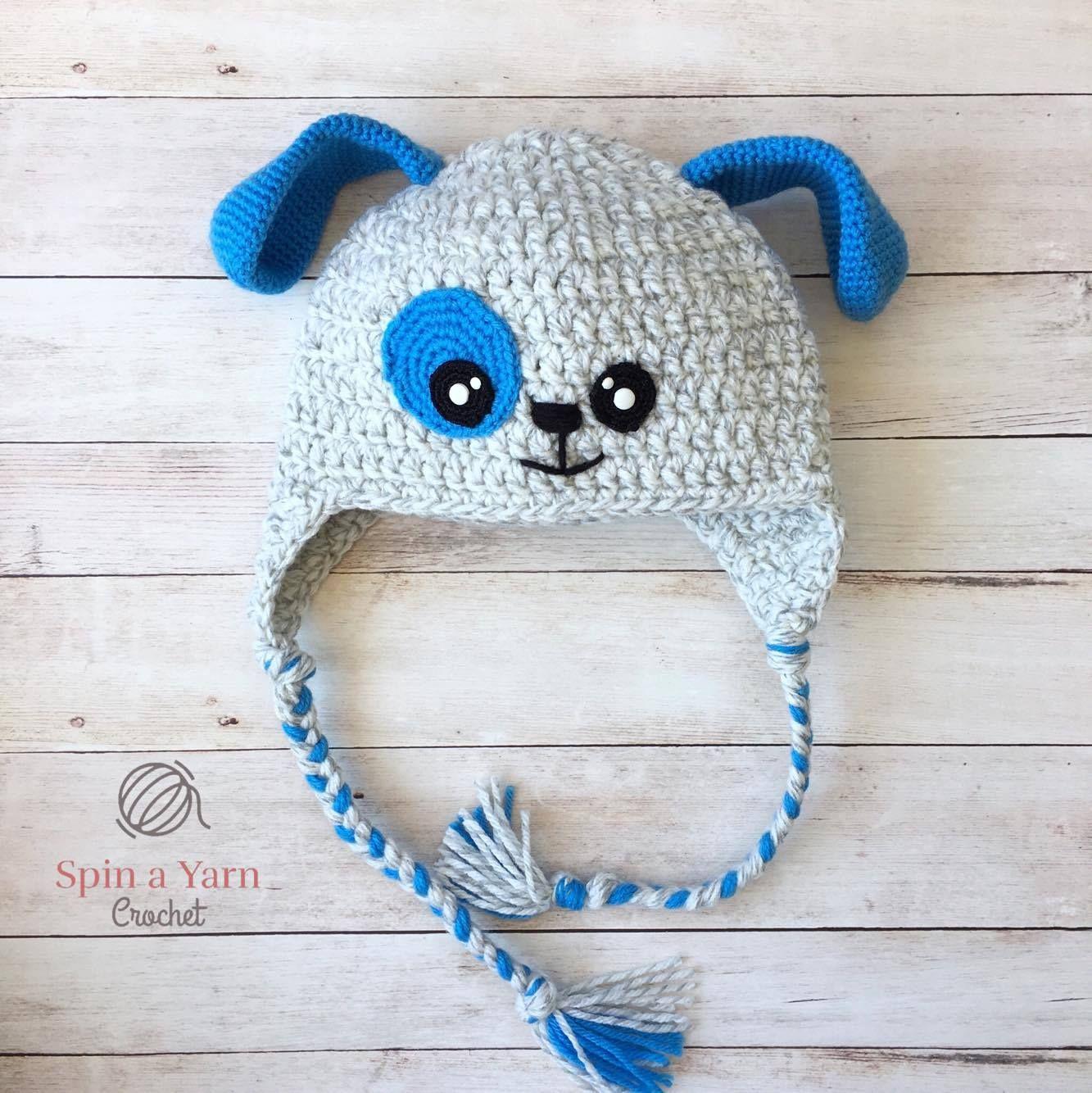 Puppy Hat Free Crochet Pattern | Canastilla, Para bebés y Bebé