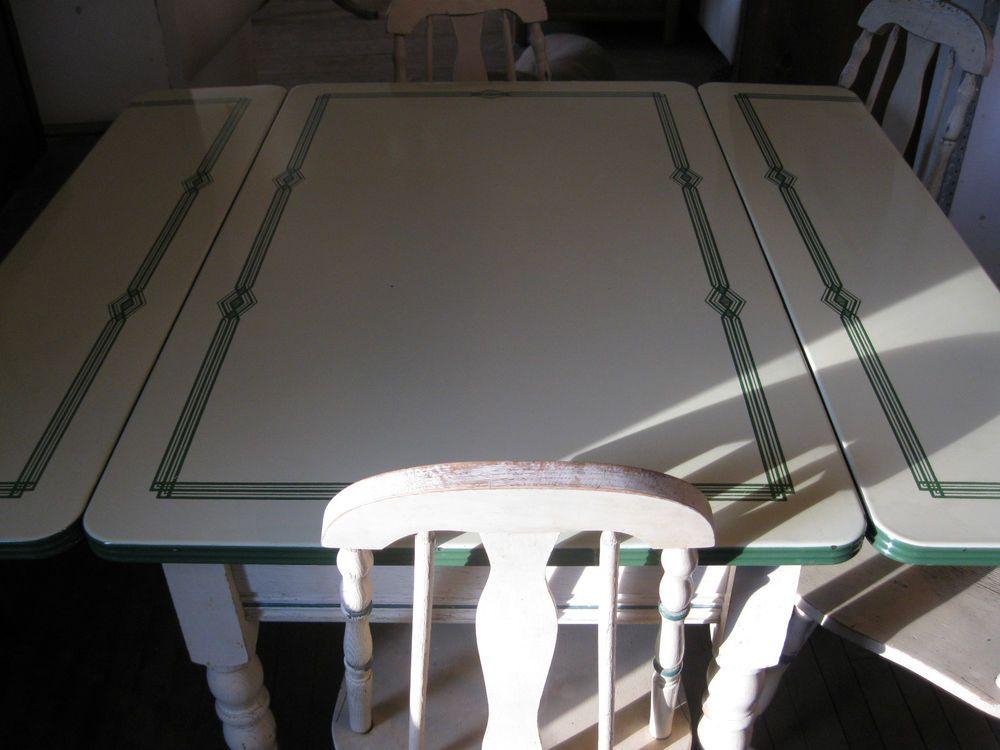 vintage enamel top table w 4 chairs vintage  vintage