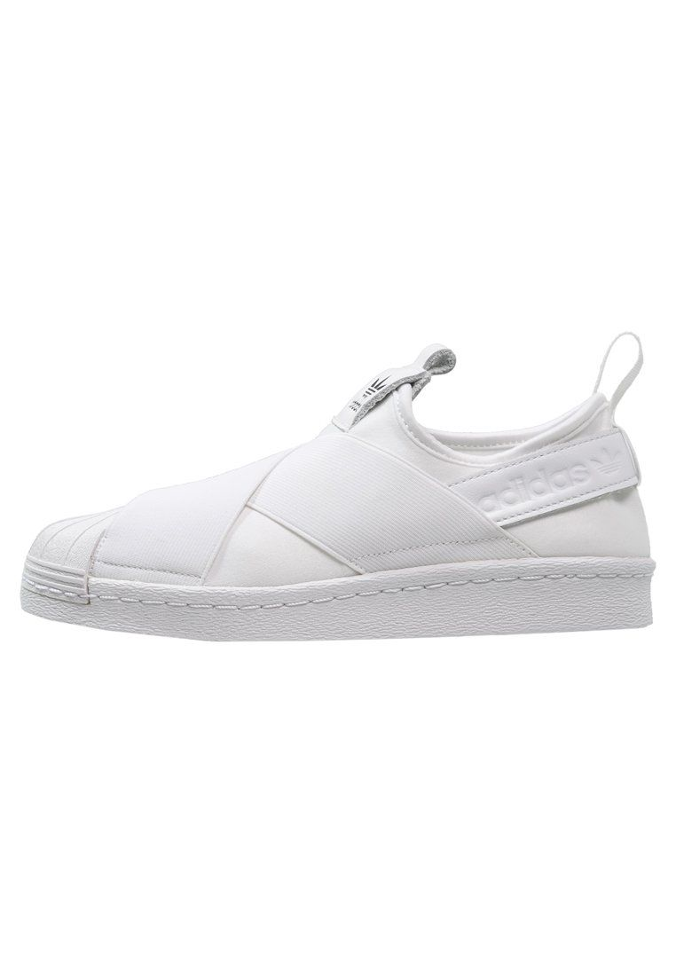 adidas Originals SUPERSTAR - Loafers - white/core black - Zalando.dk