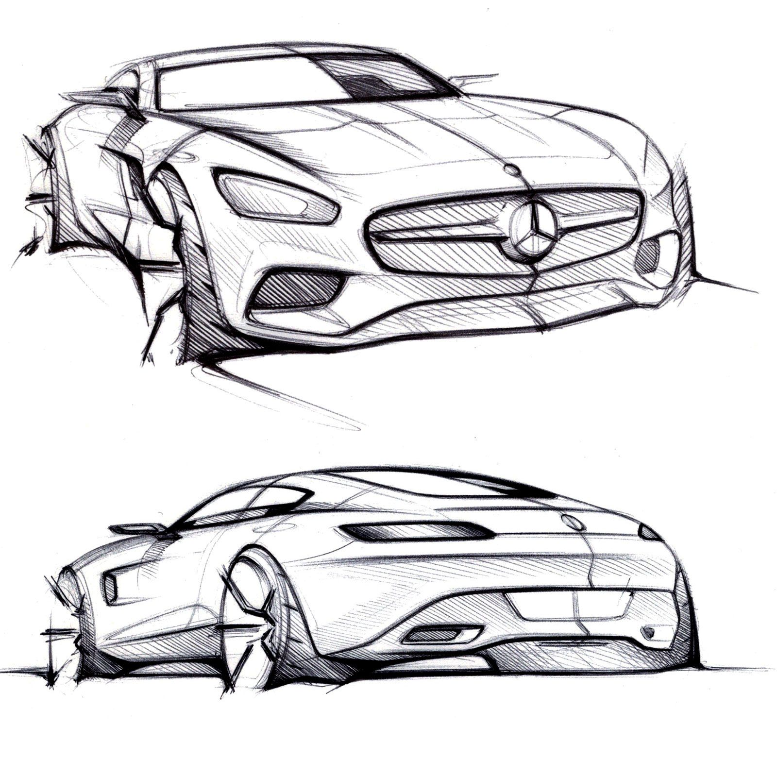 Mercedes-AMG GT - Design Sketches | Industrial Design | Car Design Sketch Design Sketches