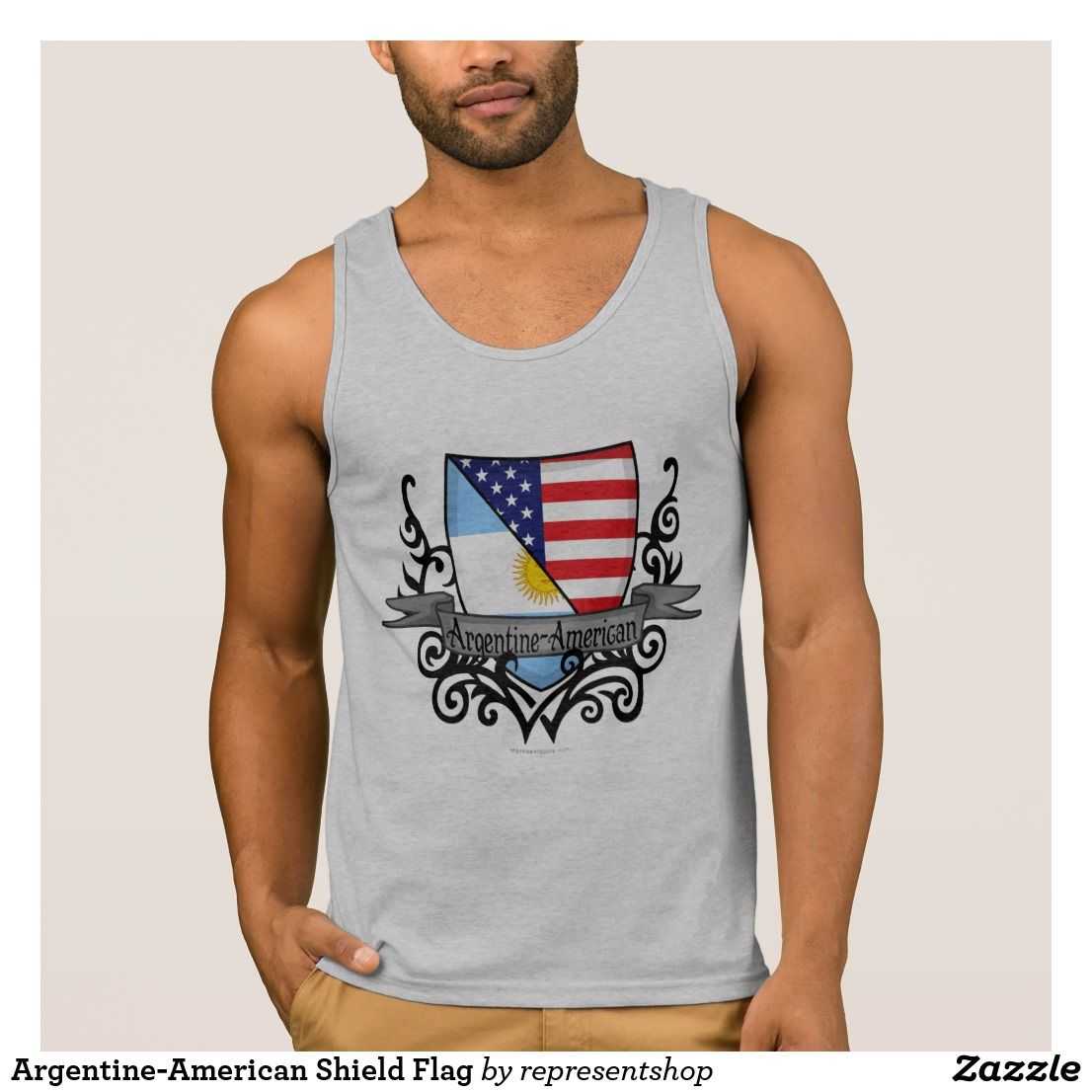 Argentine-American Shield Flag Tank Top