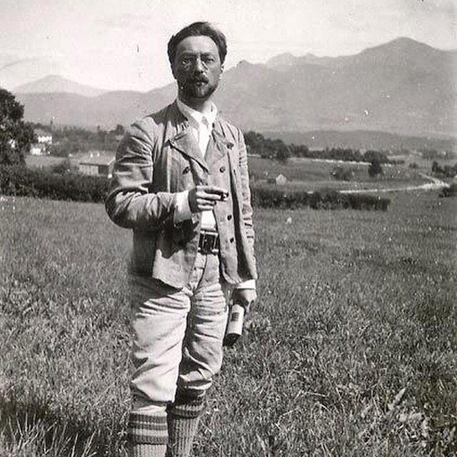 Kandinsky In Murnau Ca 1909 Photo Gabriele M Nter