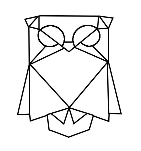 geometric geometrique owl hibou chouette diy pinterest chouette dessin et animaux geometrique. Black Bedroom Furniture Sets. Home Design Ideas