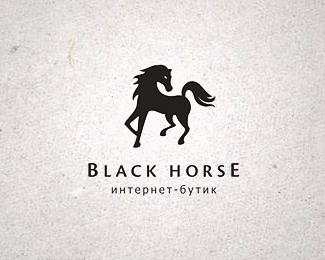 Black Horse By Jrf Horse Logo Black Horse Horses