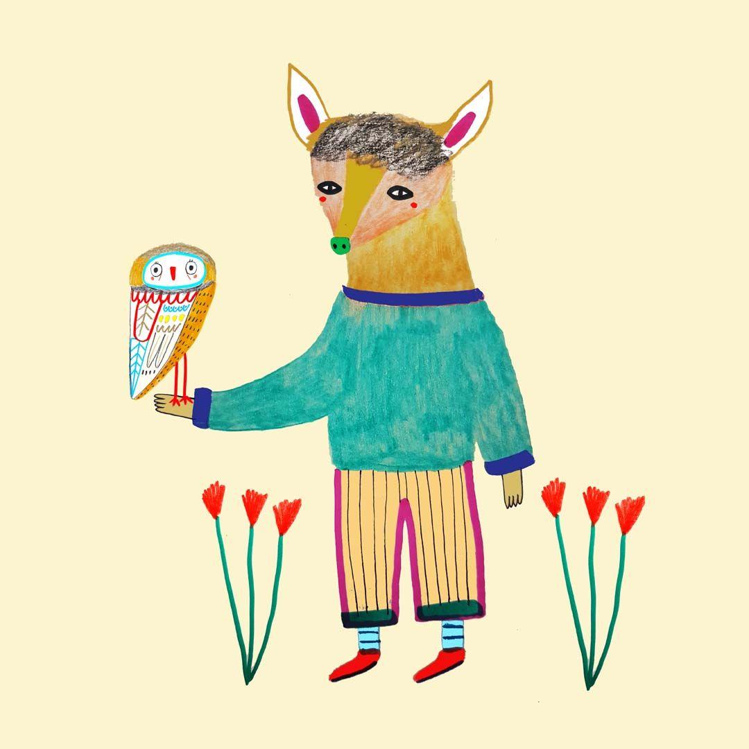 Deer by illustrator Ashley Percival. illustration artist