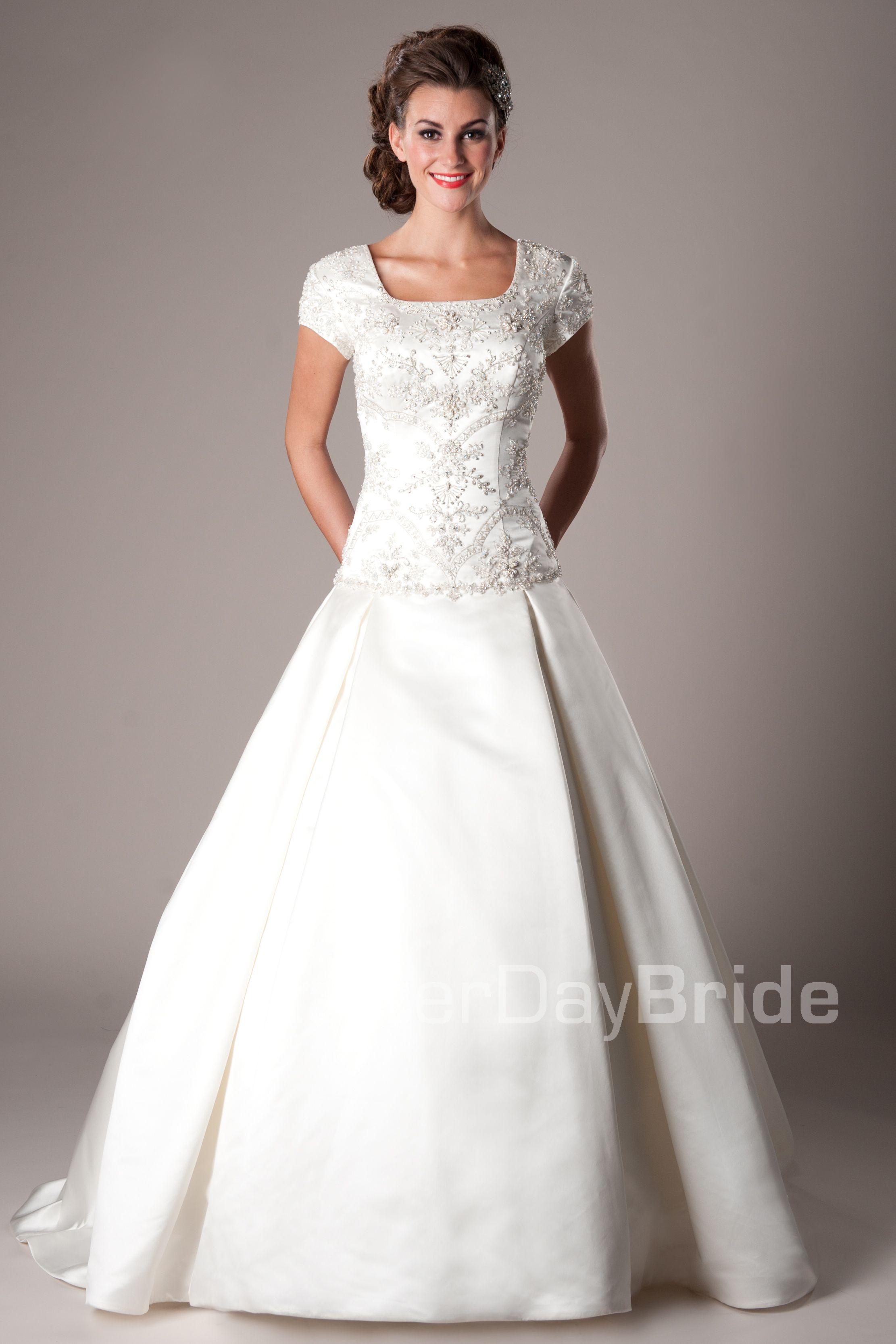 Modest wedding dresses mormon lds temple marriage escalante