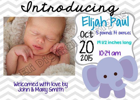 Birth Announcement Boy/Girl **Adoption Fundraiser** **All proceeds