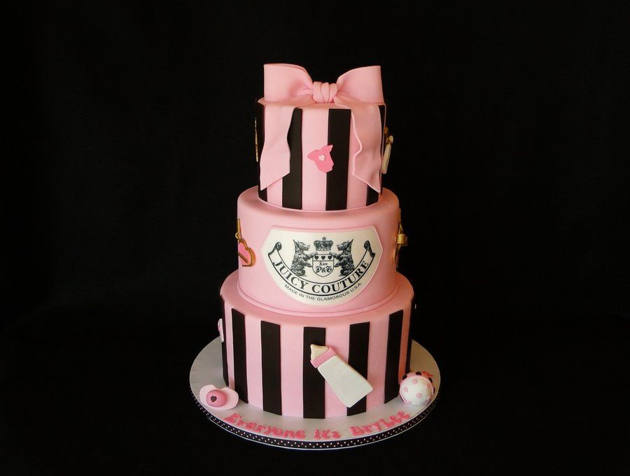 Juicy Couture Baby Shower Cakes Cake Decorating Daily