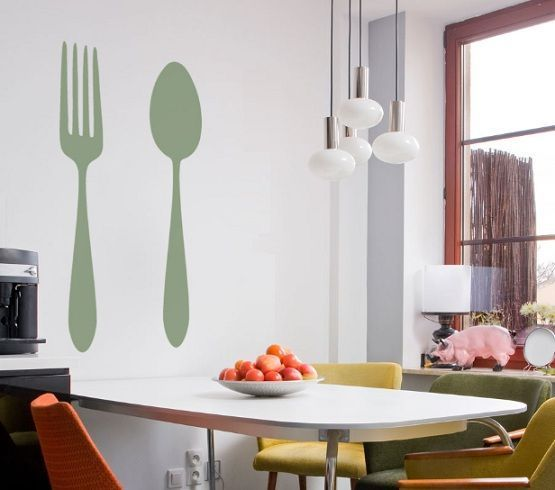 Fork And Spoon Wall Decor Ideas Kitchen Wall Decals