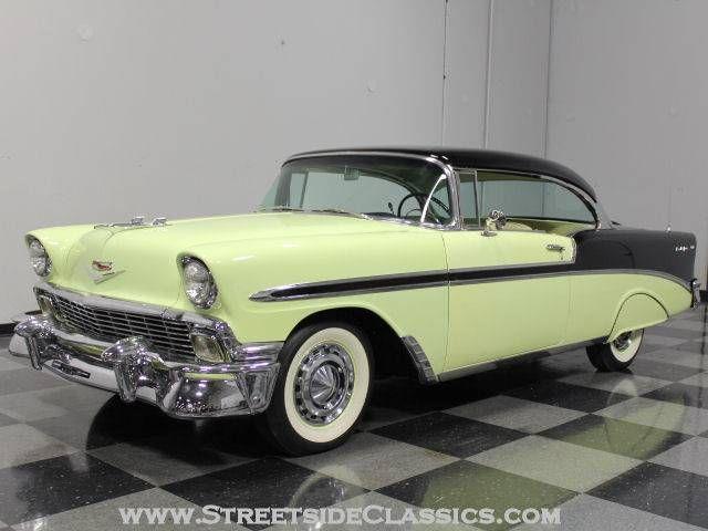 1956 Chevrolet Bel Air Coupe Onyx Black Over Crocus Yellow 56