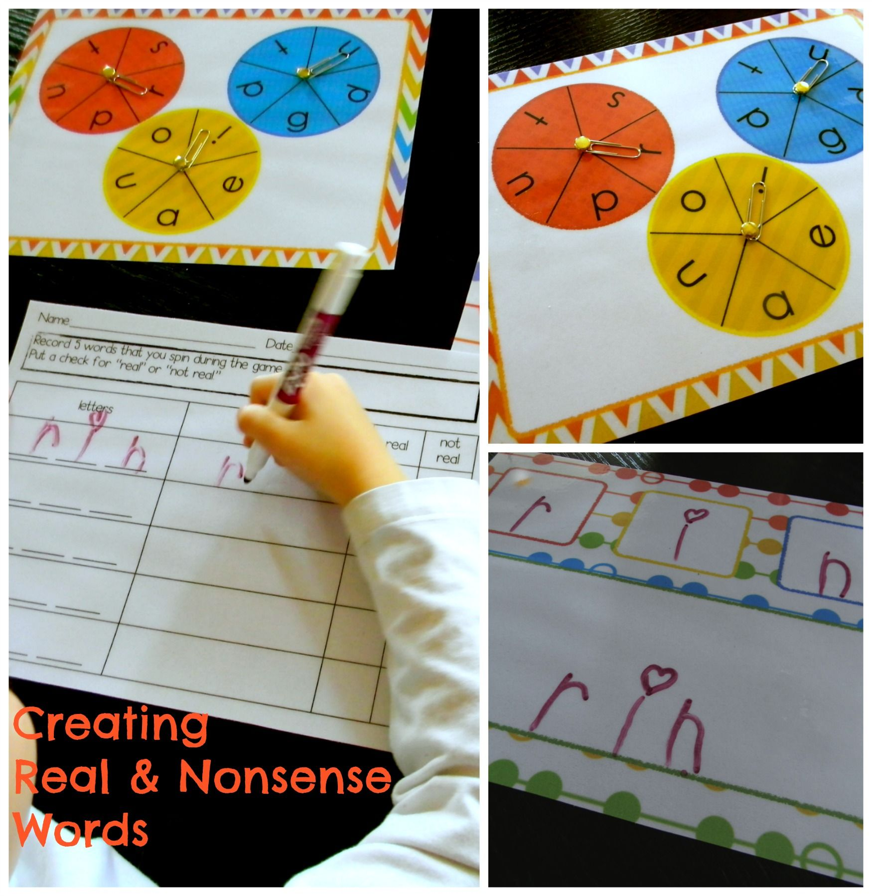 Spin To Create Real And Nonsense Cvc Words