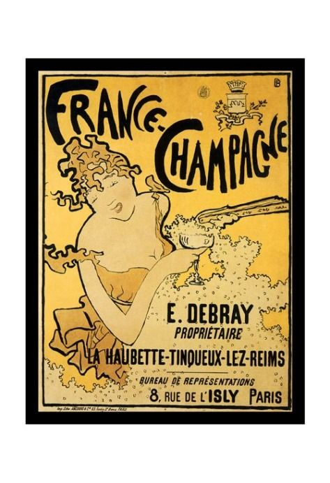 Vintage Advertising Posters | Details about Vintage French Champagne Liqueur Advertising Poster