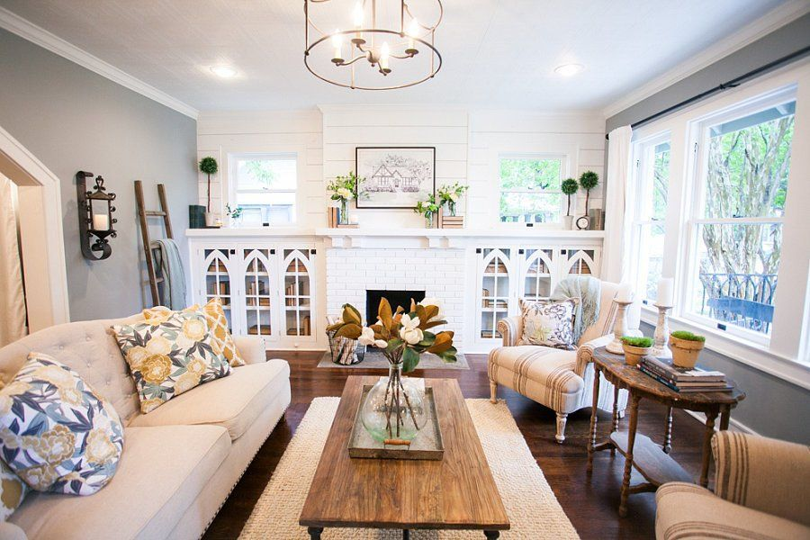 How Fixer Upper S Chip And Joanna Gaines Add Instant Character To A Home Farm House Living Room Joanna Gaines Living Room Home