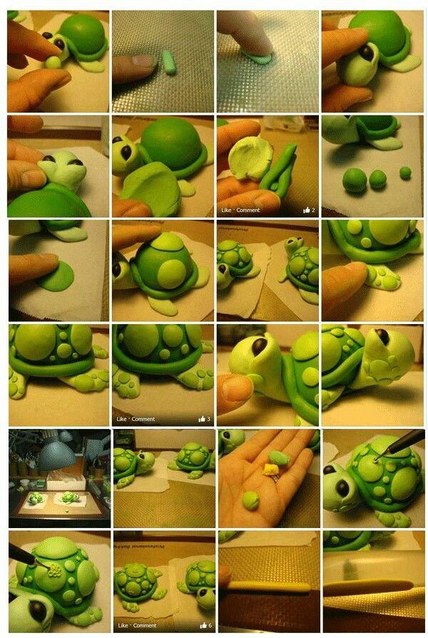 Fondant turtle tutorial...so cute!