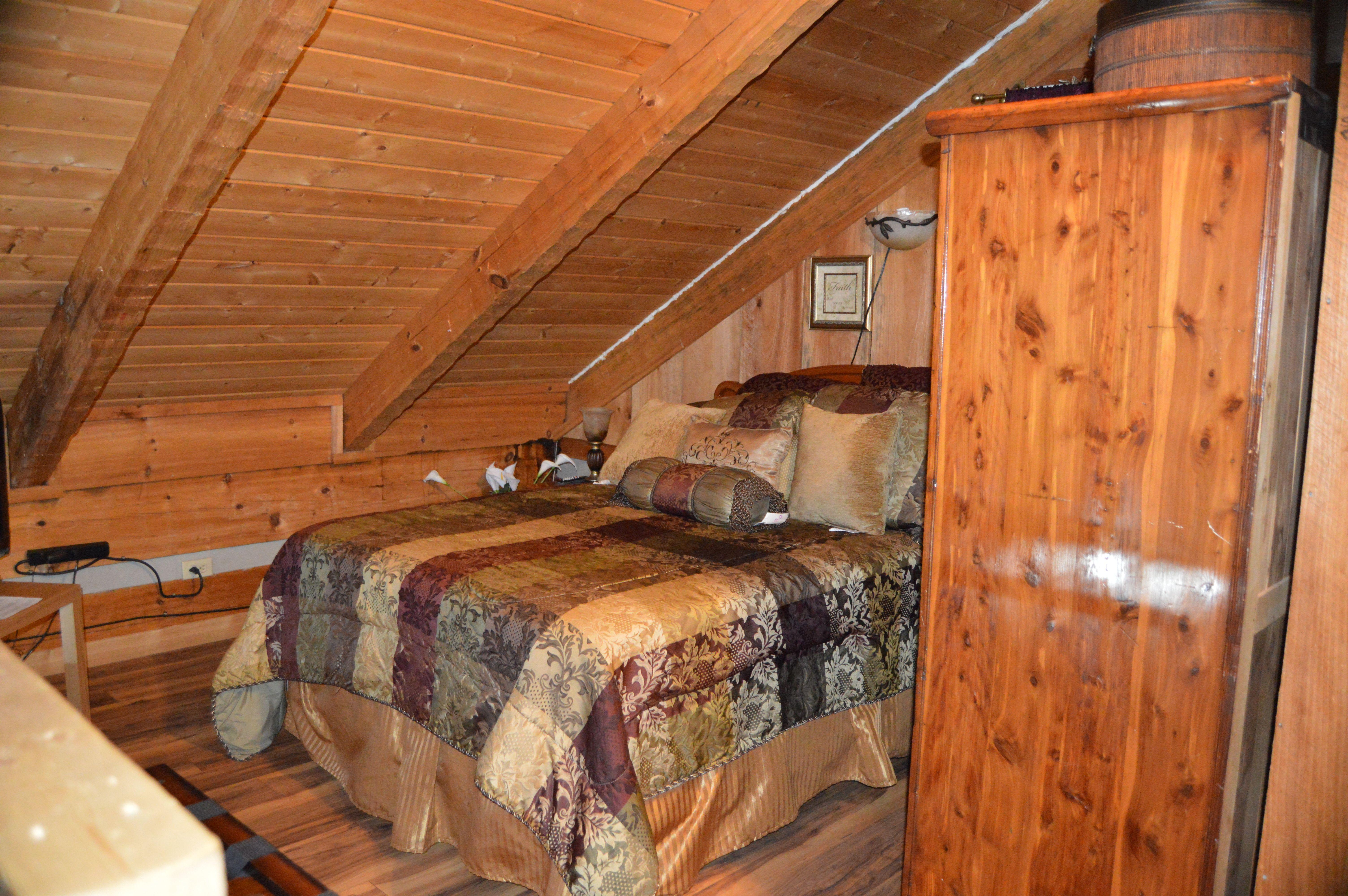 Full size bed in loft