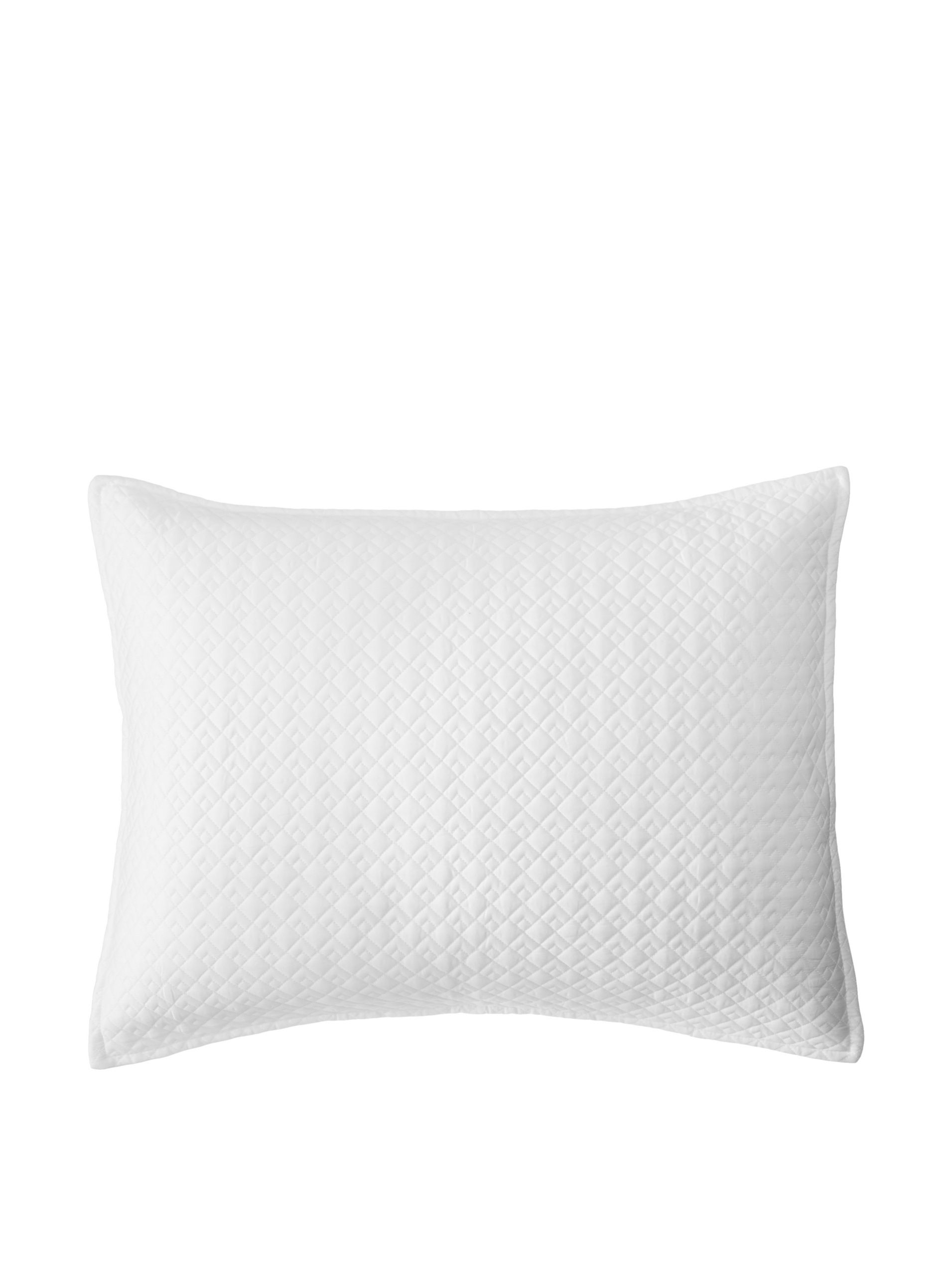 Vera Wang Double Diamond Sham (White) Simple yet elegant, add texture to your bedding with this double diamond quilted pattern sham with envelope closure DiamondHome #Bed