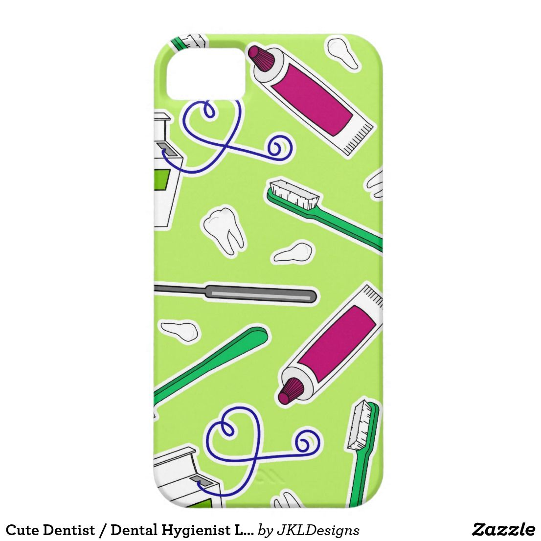 Cute Dentist / Dental Hygienist Love Green Purple Case