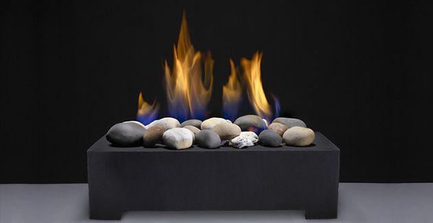 Gas Stones Log Set Alternative For Wood Burning Fireplaces Minimalist Decor Fireplace Inserts Minimalist Bedroom Furniture