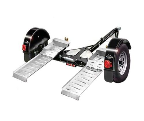 Roadmaster Tow Dolly With Self Steering Wheels And Electric Brakes 4 380 Lbs Roadmaster Trailers R Motorcycle Camping Gear Towing Steering Wheel