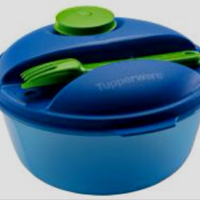 Tupperware Salad container! I want this!