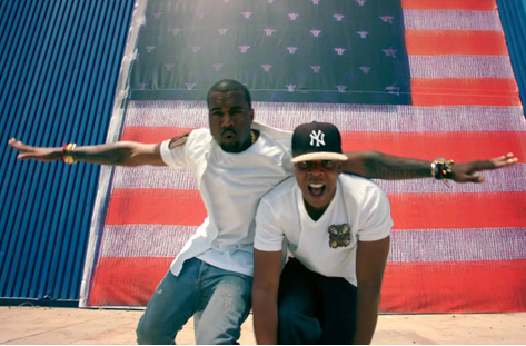 Kanye And Jay Z This Videos Proceeds Went To A Charity In Uganda Thats Whats Up Jay Z Kanye West Kanye West Otis Jay Z